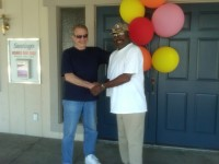Richard Simonian (Left) of Affordable Community Living and the Veterans Affordable Housing Program and James Brown (Right) (Click to enlarge)
